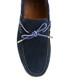 Navy blue suede moccasins  Sale - Baqietto Sale
