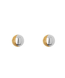 18ct gold-plated sterling stud earrings