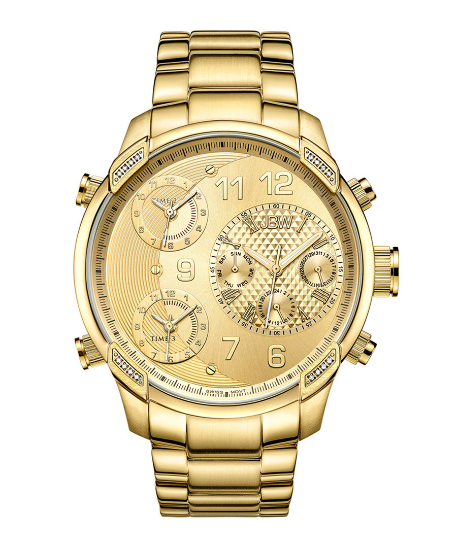 G4 18k gold-plated steel subdial watch Sale - jbw