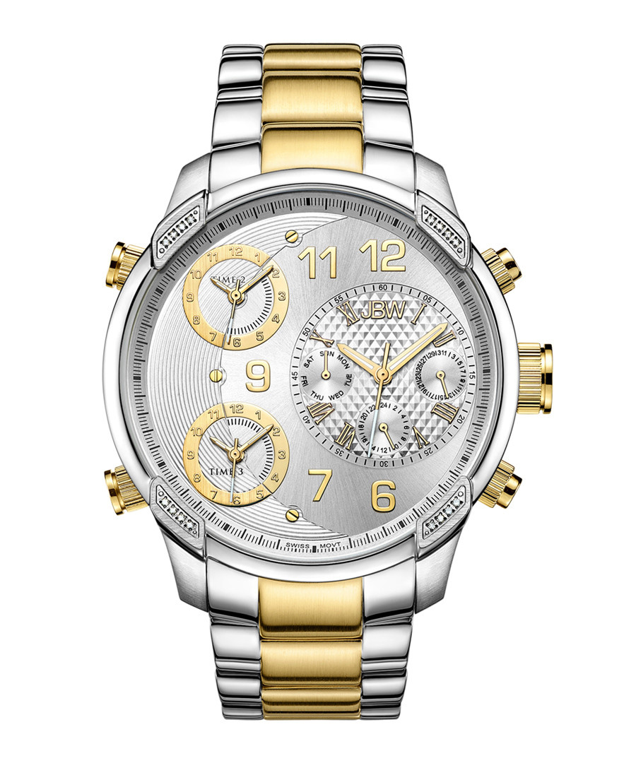 G4 18ct gold-plated steel link watch Sale - jbw