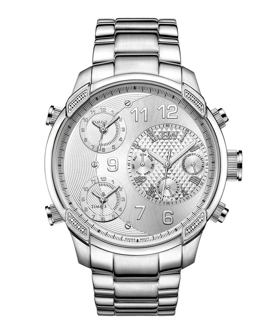 G4 stainless steel & diamond link watch Sale - jbw