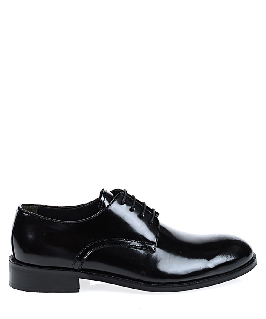 Black patent leather Oxford shoes Sale - Baqietto
