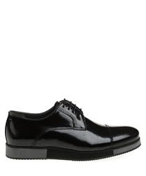 Black patent leather smart shoes