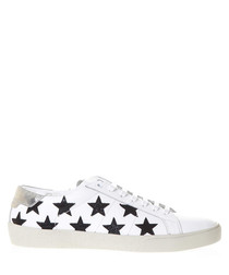 Signature white leather star sneakers