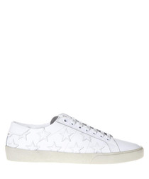 Signature white leather sneakers