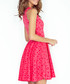 Pink polka dot sleeveless skater dress Sale - numoco Sale