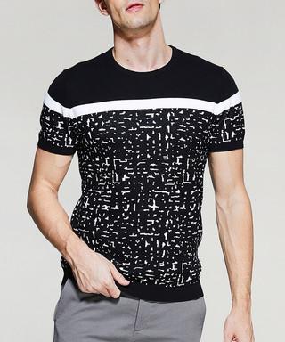 db0203a2ade5 Black & white pure cotton print T-shirt Sale - Kuegou Sale