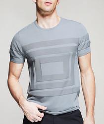 Grey box motif T-shirt