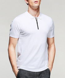 White zip neck T-shirt