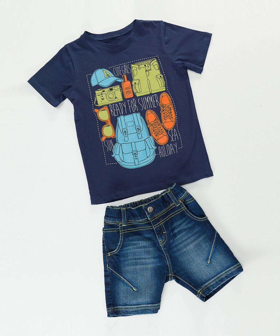2pc Boy's Holiday cotton blend set Sale - denokids