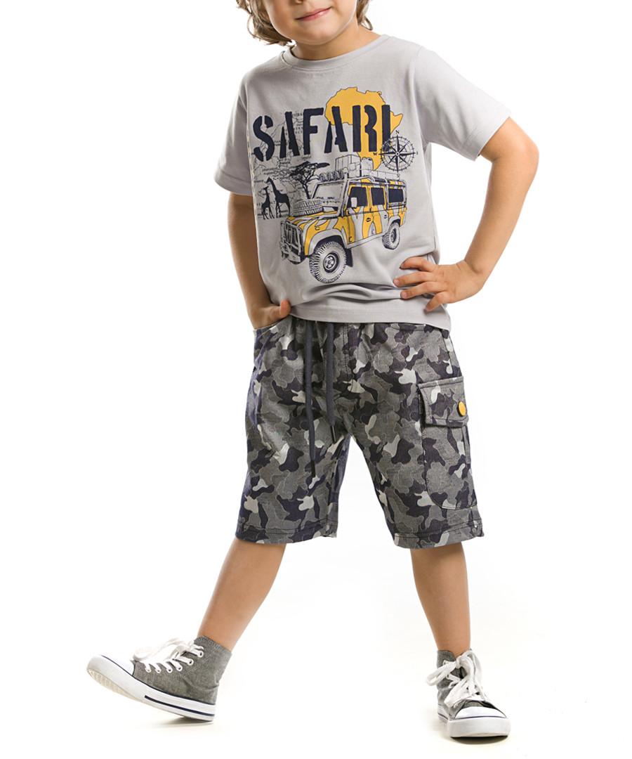 2pc Boy's Safari cotton blend set Sale - Denokids