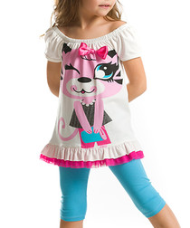 2pc Girl's Shopping cotton blend set