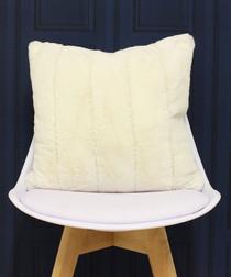 Empress cream faux fur cushion 45cm