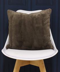 Empress taupe faux fur cushion 55cm