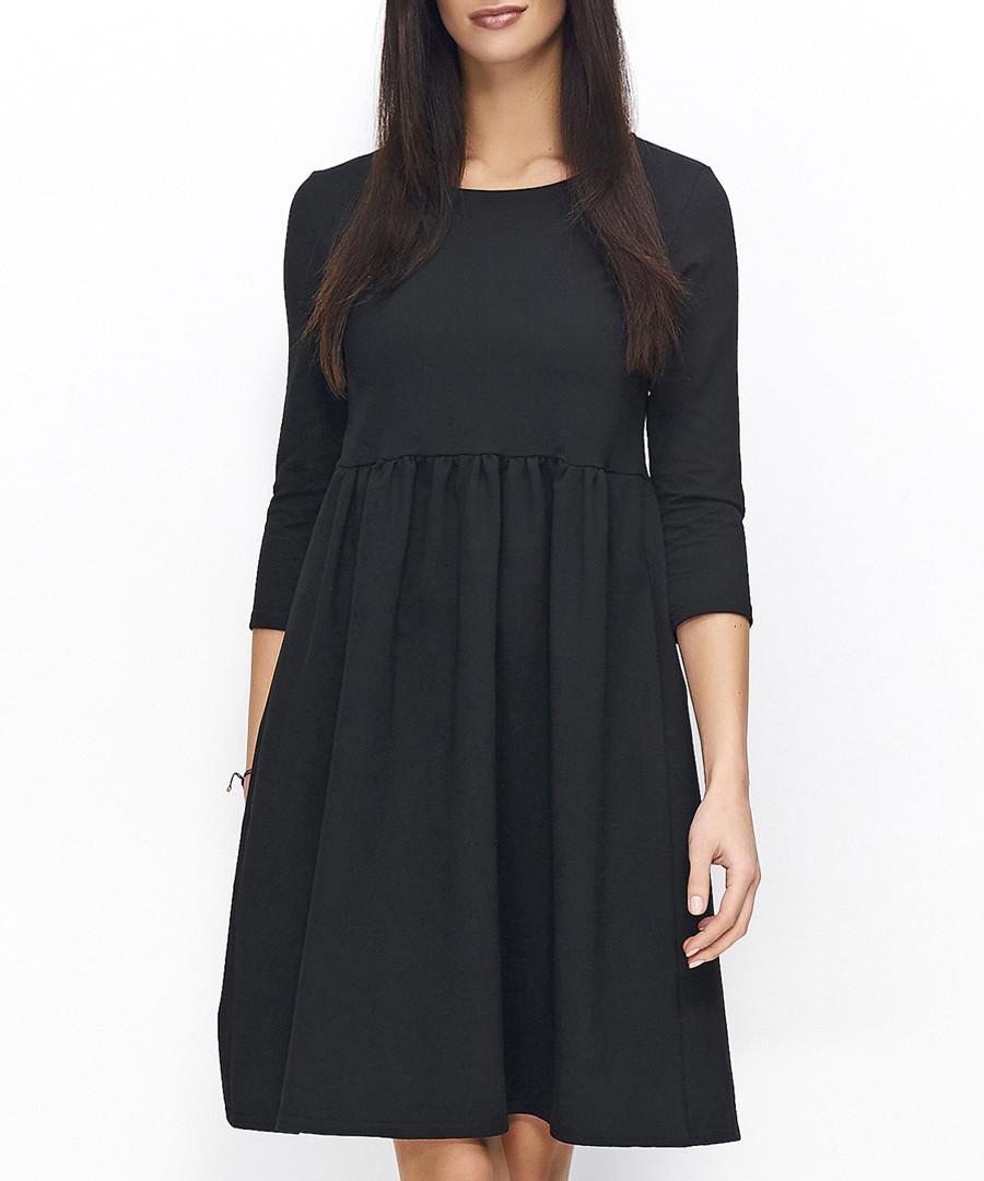 Black cotton blend dress Sale - numinou