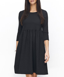 Black cotton blend dress