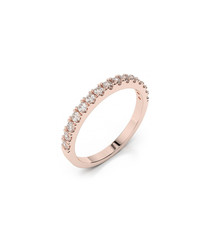 9ct rose gold & diamond ring