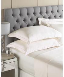Cream Egyptian cotton 400TC double sheet