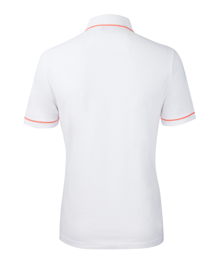 Discount White Pure Cotton Polo Shirt Secretsales