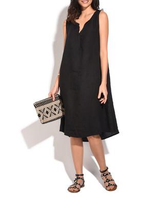 717b58cdf3 Black pure linen dress Sale - William de Faye Sale