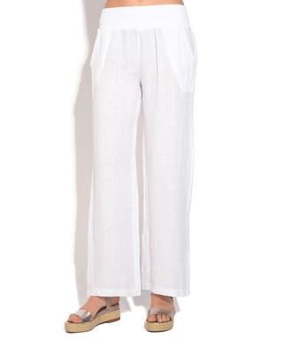 ab5f516cff White pure linen trousers Sale - William de Faye Sale