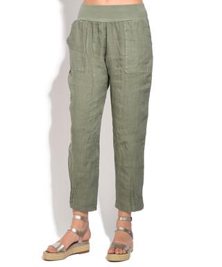 a4fad2475d Khaki pure linen trousers Sale - William de Faye Sale