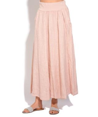8063ca050b Pink pure linen skirt Sale - William de Faye Sale