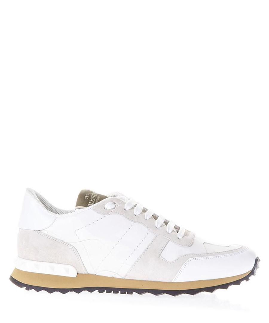 Rockrunner white leather sneakers  Sale - valentino garavani