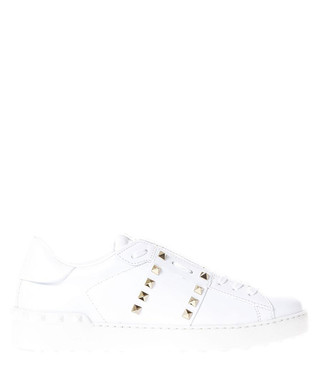 2db86d7cd867e Men s Rockstud white leather sneakers Sale - VALENTINO Sale