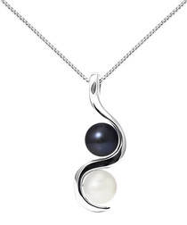 9k white gold & two-tone pearl necklace