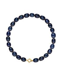 Black Tahiti pearl & 9k gold bracelet