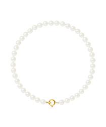 0.4cm white nacre pearl bracelet
