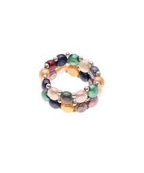 0.3cm multi-coloured pearl ring