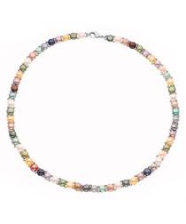 0.3cm multi-coloured pearl necklace