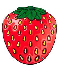 Strawberry beach blanket