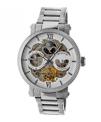 Aries silver-tone stainless steel watch