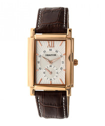 Frederick brown leather & steel watch