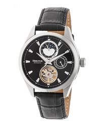 Sebastian black leather watch