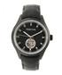 Crew black leather watch Sale - heritor automatic Sale