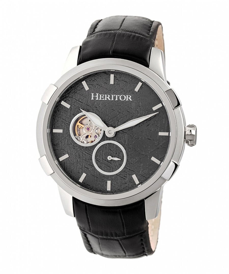 Callisto black leather watch Sale - heritor automatic
