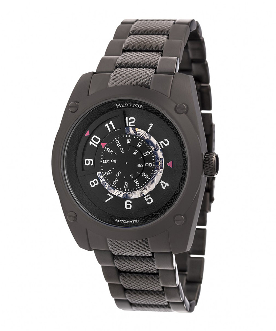 Daniels black stainless steel watch Sale - heritor automatic