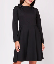 Black knee-length skater dress