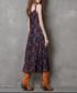 Purple cotton & linen strappy dress Sale - keer qiaowa Sale