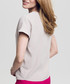Beige ruffle flap detail blouse Sale - peperuna Sale