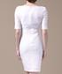 White bow detail short sleeve dress Sale - Vogue.Va Sale