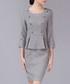 Grey wool blend peplum button dress Sale - Vogue.Va Sale
