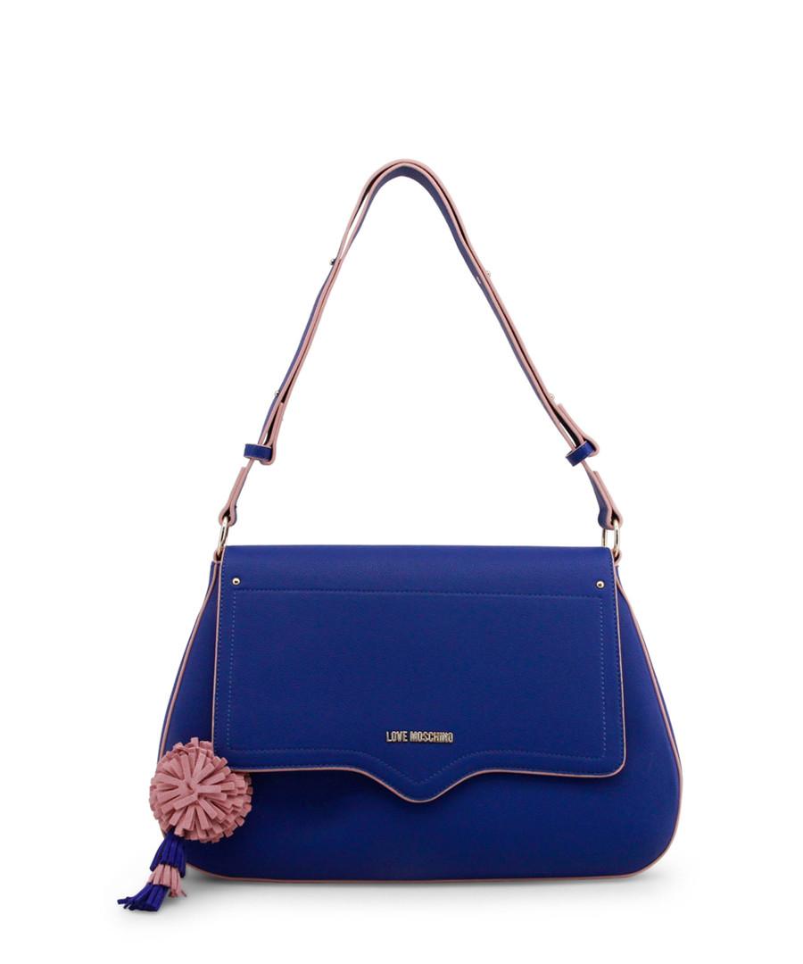 a5d4868987 Blue   light pink pompom shoulder bag Sale - love moschino