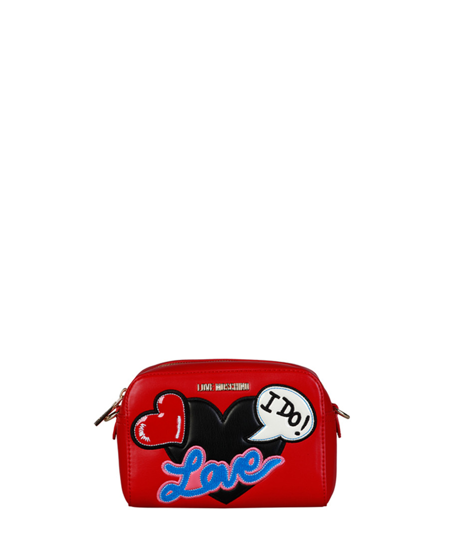 I Do red patch cross body bag Sale - love moschino