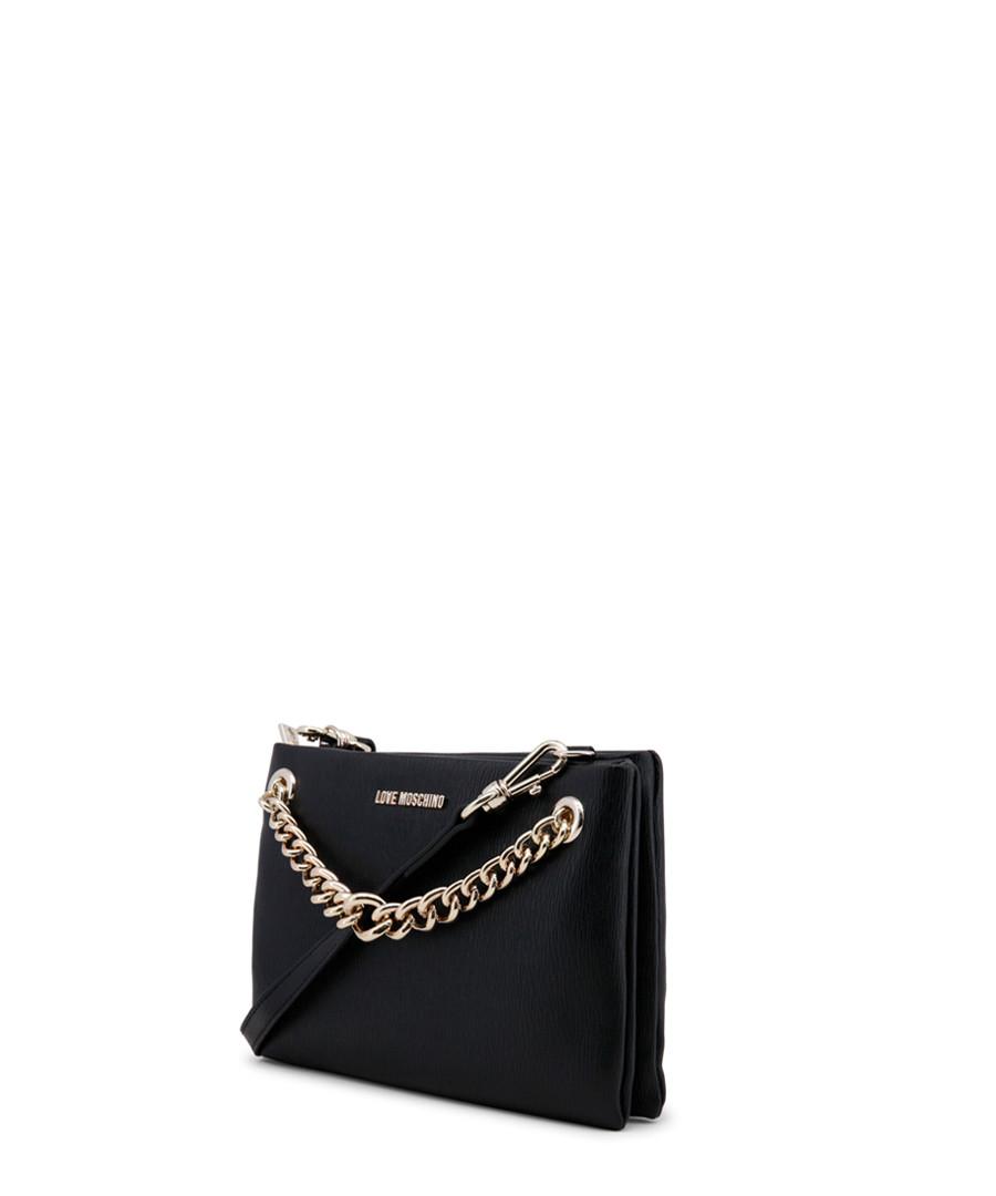 d6a4ad3a601b3 ... Black chain detail cross body bag Sale - love moschino