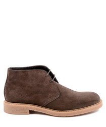 Men's Brown leather desert boots